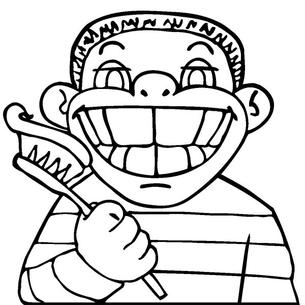 Dental Health, : Great Smile in Dental Health Coloring Page