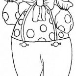 Clown, Greeting Clown Coloring Page: Greeting Clown Coloring Page