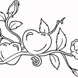 Hearts & Roses, Growing Hearts And Roses Coloring Page: Growing Hearts and Roses Coloring Page