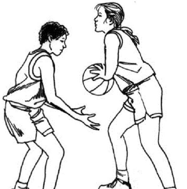 NBA, : Guarding NBA Player Coloring Page