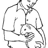 Guinea Pig, Guinea Pig As Pet Coloring Page: Guinea Pig as Pet Coloring Page