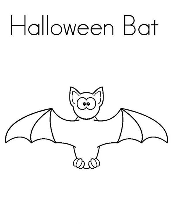 Bats, : Halloween Bats Coloring Page