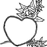 Hearts & Roses, Hearts And Roses For My Beautiful Wife Coloring Page: Hearts and Roses for My Beautiful Wife Coloring Page