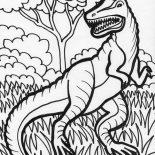 T-Rex, Hideous T Rex Coloring Page: Hideous T Rex Coloring Page