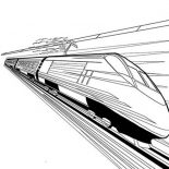 Trains, High Speed Train Coloring Page: High Speed Train Coloring Page