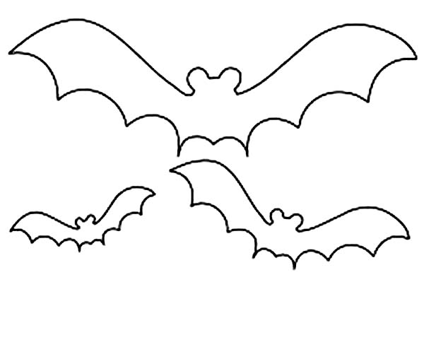 Bats, : How to Draw Bats Coloring Page