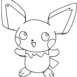 Pichu, How To Draw Pichu Coloring Page: How to Draw Pichu Coloring Page
