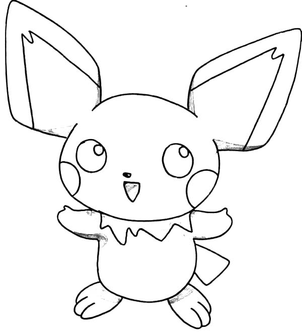 How To Draw Pichu Coloring Page : Color Luna