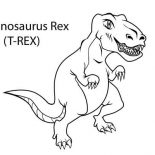 T-Rex, How To Draw T Rex Coloring Page: How to Draw T Rex Coloring Page
