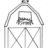 Barn, How To Draw A Barn Coloring Page: How to Draw a Barn Coloring Page