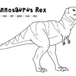 T-Rex, How To Spell T Rex Coloring Page: How to Spell T Rex Coloring Page