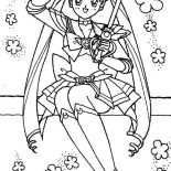 Sailor Moon, In The Name Of The Moon I Will Punish You In Sailor Moon Coloring Page: In the Name of The Moon I Will Punish You in Sailor Moon Coloring Page