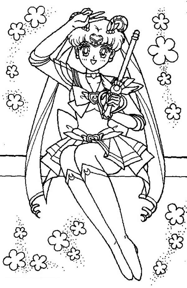 Sailor Moon, : In the Name of The Moon I Will Punish You in Sailor Moon Coloring Page