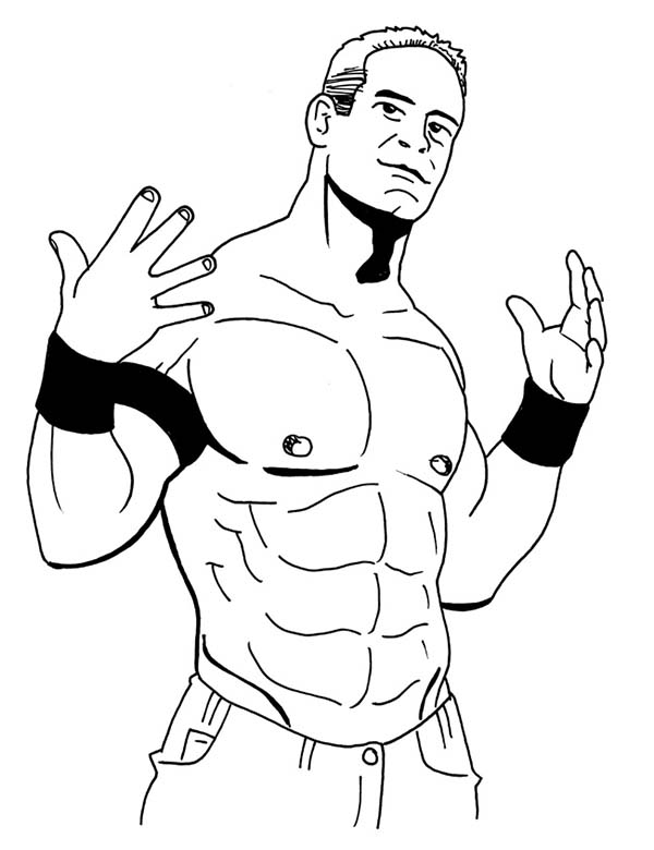 Wrestling, : John Cena from World Wrestling Entertainment  Coloring Page