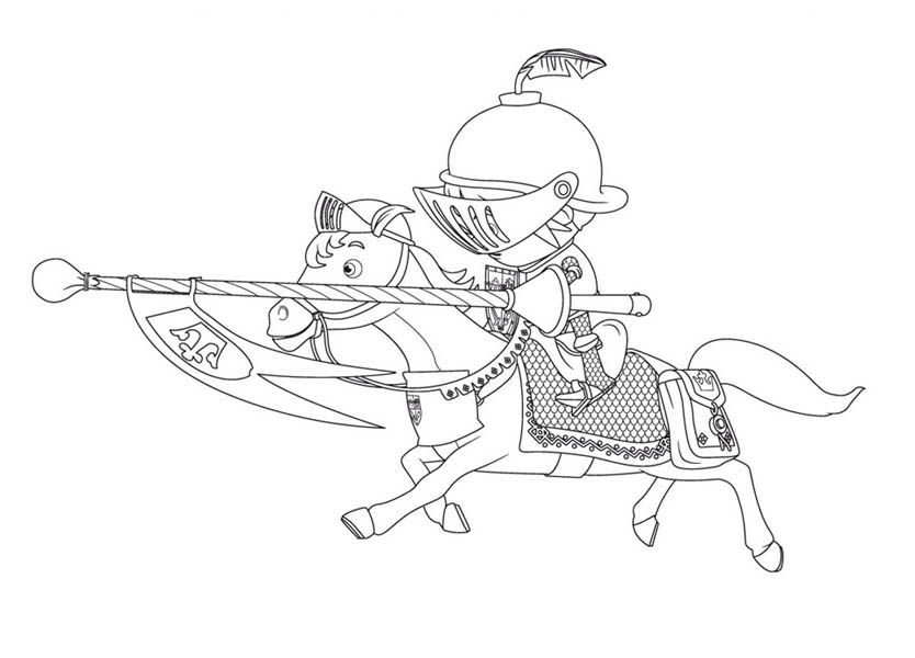 Mike the Knight, : Jousting at Mike the Knight Coloring Page