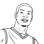 NBA, Kevin Durant Is NBA Player Coloring Page: Kevin Durant is NBA Player Coloring Page
