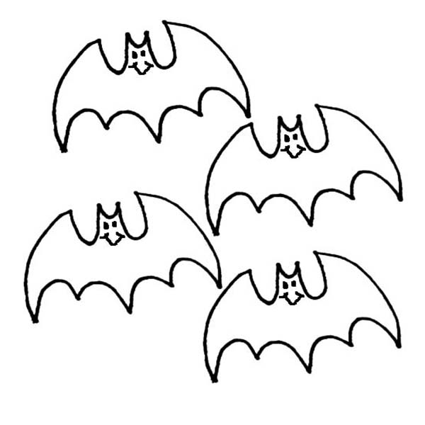 Bats, : Kids Drawing Bats Coloring Page