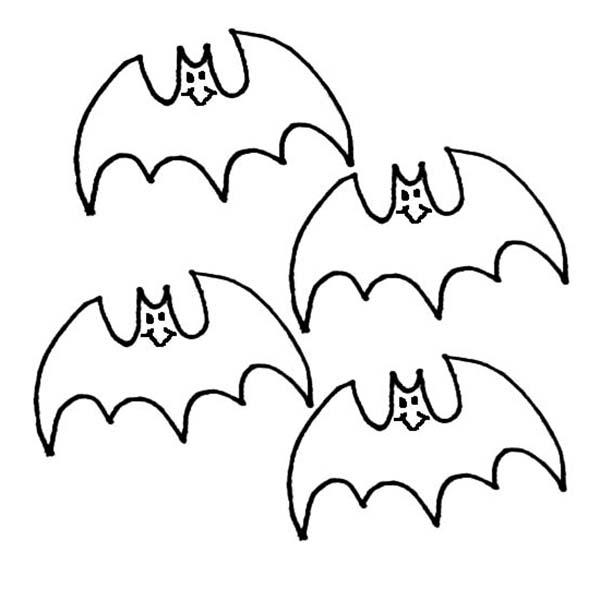 Bats, : Kids Drawing Bats Coloring Page