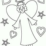 Angels, Kids Drawing Of Angels Coloring Page: Kids Drawing of Angels Coloring Page