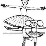 Ballerina, Kids Drawing Of Ballerina Coloring Page: Kids Drawing of Ballerina Coloring Page