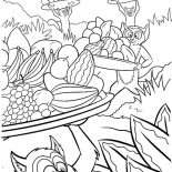 Lemur, King Julien The King Of Lemur Coloring Page: King Julien the King of Lemur Coloring Page