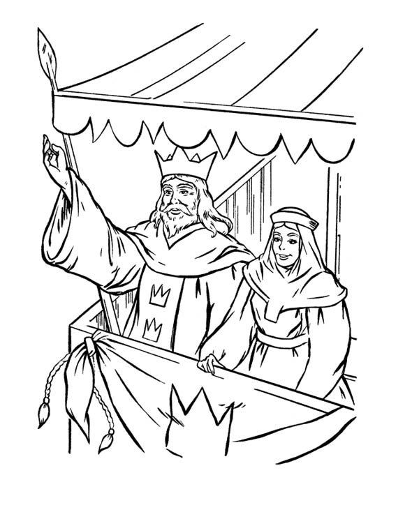 Middle Ages, : Kings Greeting People in Middle Ages Coloring Page
