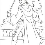 Middle Ages, Knight With Sword In Middle Ages Coloring Page: Knight with Sword in Middle Ages Coloring Page