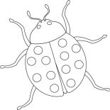 Lady Bug, Lady Bug Smell Bad Coloring Page: Lady Bug Smell Bad Coloring Page