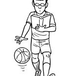 NBA, Learn To Be NBA Player Coloring Page: Learn to be NBA Player Coloring Page