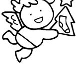 Angels, Little Wing Christmas Angels Coloring Page: Little Wing Christmas Angels Coloring Page