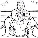 Wrestling, Lockdown On Wrestling Championship Coloring Page: Lockdown on Wrestling Championship Coloring Page