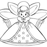 Angels, Lovely Angels And Starred Dress Coloring Page: Lovely Angels and Starred Dress Coloring Page