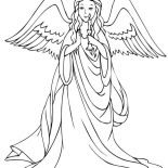 Angels, Loving Angels Holding Candle Coloring Page: Loving Angels Holding Candle Coloring Page