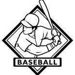 MLB, MLB Logo Coloring Page: MLB Logo Coloring Page