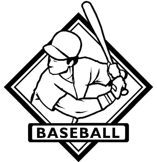MLB, : MLB Logo Coloring Page