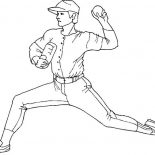 MLB, MLB Pitcher Pose Coloring Page: MLB Pitcher Pose Coloring Page