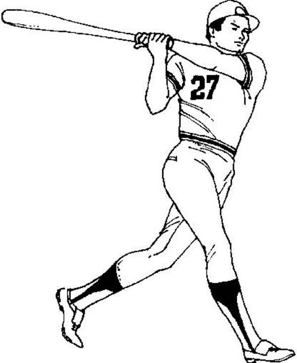 MLB, : MLB Player Coloring Page