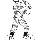 MLB, MLB Player Ready In The Batter Box In MLB Coloring Page: MLB Player Ready in the Batter Box in MLB Coloring Page