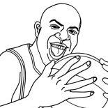 NBA, Magic Jonhson In NBA Coloring Page: Magic Jonhson in NBA Coloring Page