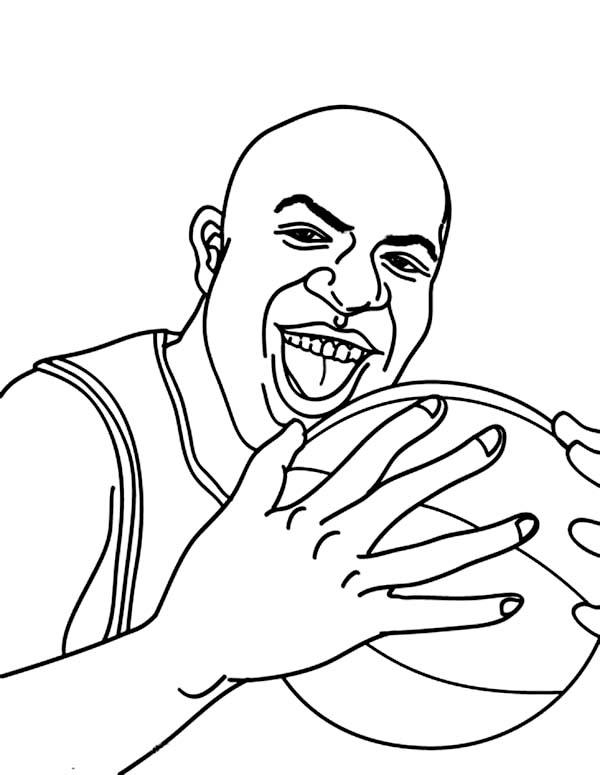 NBA, : Magic Jonhson in NBA Coloring Page