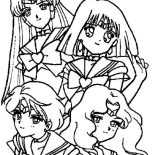 Sailor Moon, Manga Sailor Moon Picture Coloring Page: Manga Sailor Moon Picture Coloring Page
