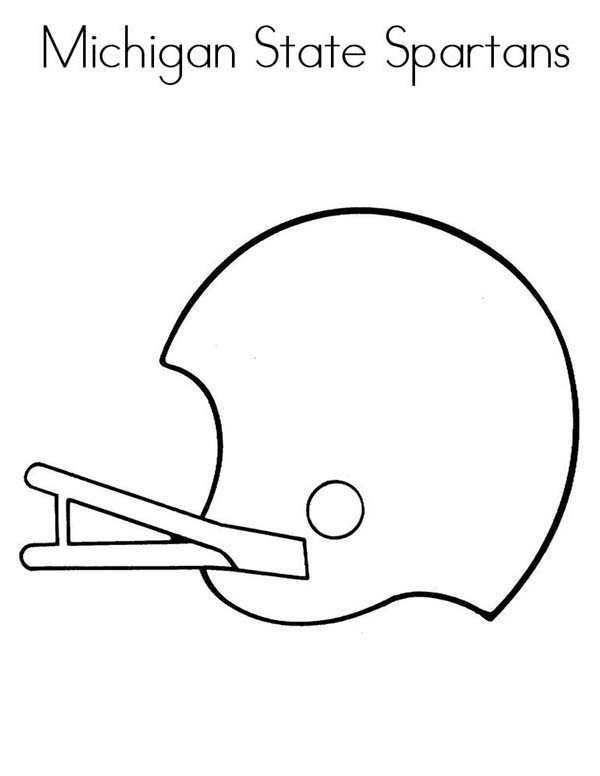 NFL, : Michigan State Spartans in NFL Coloring Page