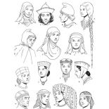 Middle Ages, Middle Ages Clothing Coloring Page: Middle Ages Clothing Coloring Page