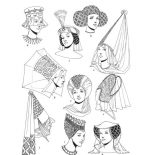 Middle Ages, Middle Ages Fashion Coloring Page: Middle Ages Fashion Coloring Page