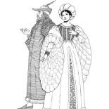 Middle Ages, Middle Ages Fashion Style Coloring Page: Middle Ages Fashion Style Coloring Page