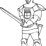 Middle Ages, Middle Ages Knight Coloring Page: Middle Ages Knight Coloring Page