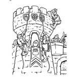 Middle Ages, Middle Ages War In The Castle Coloring Page: Middle Ages War in the Castle Coloring Page