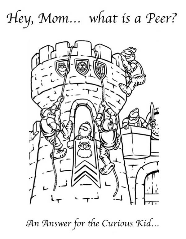 Middle Ages, : Middle Ages War in the Castle Coloring Page