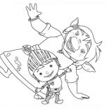 Mike the Knight, Mike The Knight Dancing Coloring Page: Mike the Knight Dancing Coloring Page