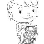 Mike the Knight, Mike The Knight Holdig A Book Coloring Page: Mike the Knight Holdig a Book Coloring Page